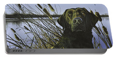 Anticipation - Black Lab Portable Battery Charger