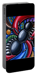 Antics - Abstract Ant Painting - Chromatic Acrylic Art - Ai P. Nilson Portable Battery Charger