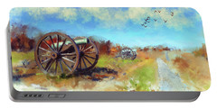 Portable Battery Charger featuring the digital art Antietam Under Blue Skies  by Lois Bryan