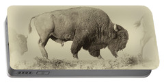Antique Bison Portable Battery Charger