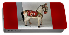 Antique Folk Art Horse Portable Battery Charger
