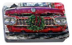 Portable Battery Charger featuring the photograph Antique Ford Christmas by Suzanne Stout