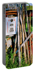 Portable Battery Charger featuring the photograph Antique Gas Pump by Linda Unger