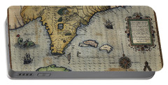 Antique Maps - Old Cartographic Maps - Antique Map Of Florida Province Portable Battery Charger