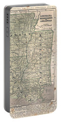 Antique Maps - Old Cartographic Maps - Antique Map Of Louisiana, Mississippi And Arkansas Portable Battery Charger