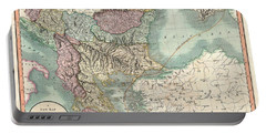 Antique Maps - Old Cartographic Maps - Antique Map Of Turkey In Europe, Greece And The Balkans, 1801 Portable Battery Charger
