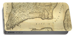 Antique Maps - Old Cartographic Maps - City Of New York And Its Environs Portable Battery Charger