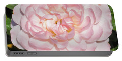 Antique Pink Rose Portable Battery Charger by Mark Barclay