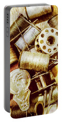 Portable Battery Charger featuring the photograph Antique Sewing Artwork by Jorgo Photography - Wall Art Gallery