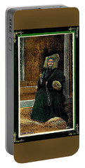 Portable Battery Charger featuring the painting Antique Tibetan Lama by Peter Gumaer Ogden