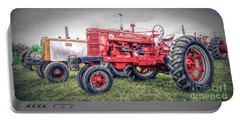 Portable Battery Charger featuring the photograph Antique Tractor Pullers by Marion Johnson