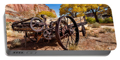 Antique Wagon In The Desert Portable Battery Charger