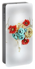Antlers And Florals Portable Battery Charger