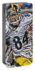 Antonio Brown Steelers Art Portable Battery Charger