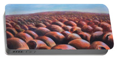 Portable Battery Charger featuring the painting Ant's Eye View Of Sand by Randol Burns