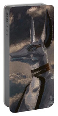 Anubis God Of Egypt By Mary Bassett Portable Battery Charger