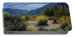 Portable Battery Charger featuring the photograph Anza-borrego Desert State Park Desert Flowers by Randall Nyhof