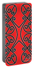 Portable Battery Charger featuring the digital art Aotearoa Koru by Brian Gibbs