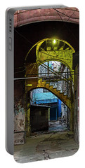 Portable Battery Charger featuring the photograph Apartment Enrance Havana Cuba Near Calle C by Charles Harden