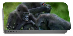 Ape Moods Portable Battery Charger by Carol Cavalaris