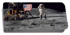 Apollo 16 Astronaut Leaps Portable Battery Charger