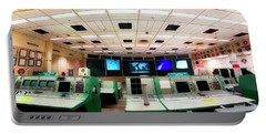 Portable Battery Charger featuring the photograph Apollo Mission Control - Space Center Houston - Nasa by Jason Politte