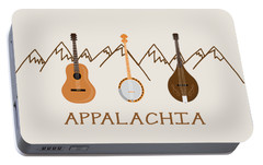Portable Battery Charger featuring the digital art Appalachia Mountain Music by Heather Applegate