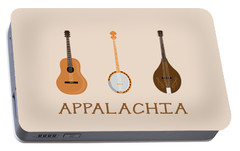 Portable Battery Charger featuring the digital art Appalachia Music by Heather Applegate