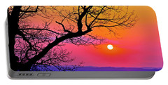 Appalcahian Sunset Tree Silhouette  #1 Portable Battery Charger