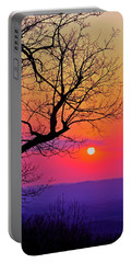 Appalcahian Sunset Tree Silhouette #2 Portable Battery Charger