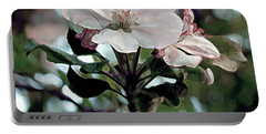 Portable Battery Charger featuring the painting Apple Blossom Time by RC DeWinter