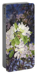 Apple Blossoms At Dusk Portable Battery Charger