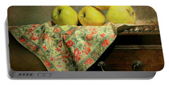Portable Battery Charger featuring the photograph Apple Cloth by Diana Angstadt
