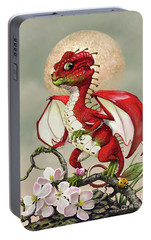 Portable Battery Charger featuring the digital art Apple Dragon by Stanley Morrison