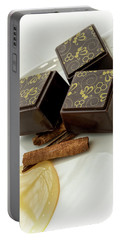 Apple Honey Cinnamon Chocolate Portable Battery Charger by Sabine Edrissi