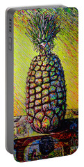 Portable Battery Charger featuring the painting Apple ..of The Pine by Viktor Lazarev