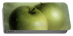 Apple Painting Portable Battery Charger by Priska Wettstein
