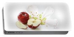 Apples And Blossom Portable Battery Charger