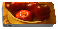 Apples In A Bowl Portable Battery Charger