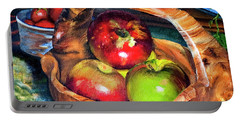 Apples In A Burled Bowl Portable Battery Charger