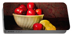 Apples In Bowl With Pear Portable Battery Charger