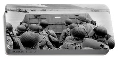 Approaching Omaha Beach - Invasion Of Normandy - June 6, 1944 Portable Battery Charger