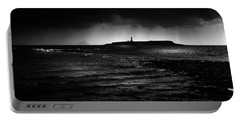 Approaching Storm, Ailsa Craig And Pladda Island Portable Battery Charger