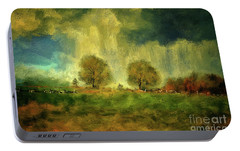 Portable Battery Charger featuring the digital art Approaching Storm At Antietam by Lois Bryan