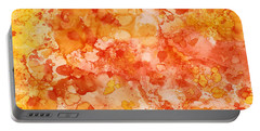 Portable Battery Charger featuring the painting Apricot Delight  by Patricia Lintner