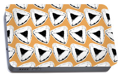 Portable Battery Charger featuring the mixed media Apricot Hamentashen- Art By Linda Woods by Linda Woods