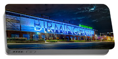 April 2015 -  Birmingham Alabama Baseball Regions Field At Night Portable Battery Charger