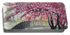 April In Paris Portable Battery Charger by Roxy Rich