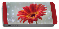 Portable Battery Charger featuring the photograph April Showers Gerbera Daisy Square by Terry DeLuco