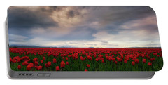 Portable Battery Charger featuring the photograph April Showers by Ryan Manuel